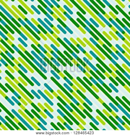 Vector Seamless Parallel Diagonal Blue Green Color Overlay Lines Pattern Abstract Background