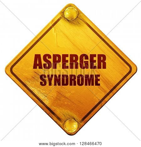 Asperger syndrome background, 3D rendering, isolated grunge yell