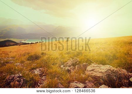 vintge backgrounds panorama mountains in Austria in Alps