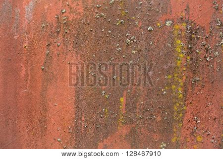 Red Rusty Iron Background