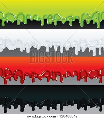 Vector Liquid Banners. Ready for Your Text and Design.