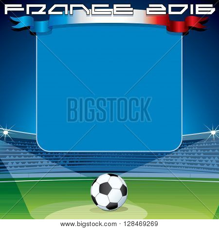 Soccer Theme Backdrop. Ready for Your Text and Design.