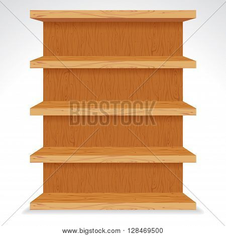 Vector Wooden Shelves. Ready for Your Text and Design.