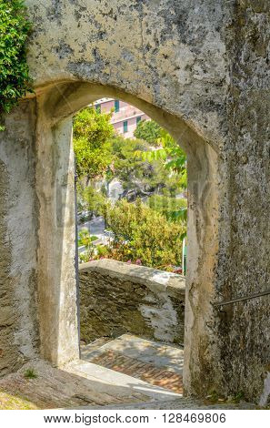 An old entrance or passage in Malcesine, Italy.