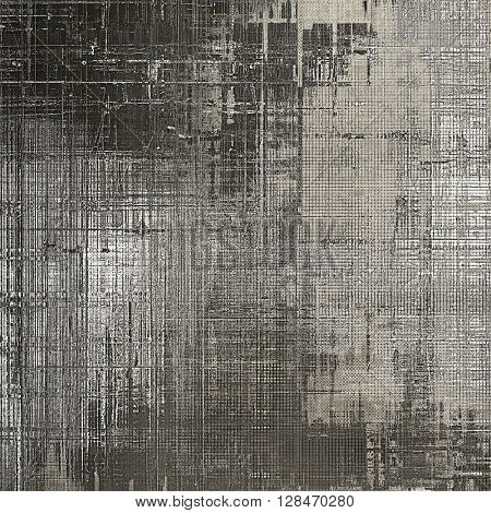 Colorful grunge texture or background with vintage style elements and different color patterns: brown; gray; black; white