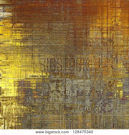 Old style distressed vintage background or texture. With different color patterns: yellow (beige); brown; gray; red (orange)