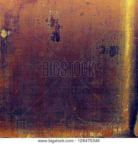 Oldest vintage background in grunge style. Ancient texture with different color patterns: yellow (beige); brown; red (orange); purple (violet); pink