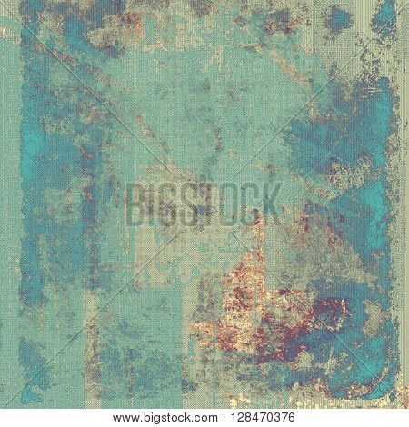Old style distressed vintage background or texture. With different color patterns: yellow (beige); brown; gray; blue; purple (violet); cyan