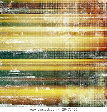 Vintage torn texture or stylish grunge background with ancient design elements and different color patterns: yellow (beige); brown; gray; green; red (orange); white