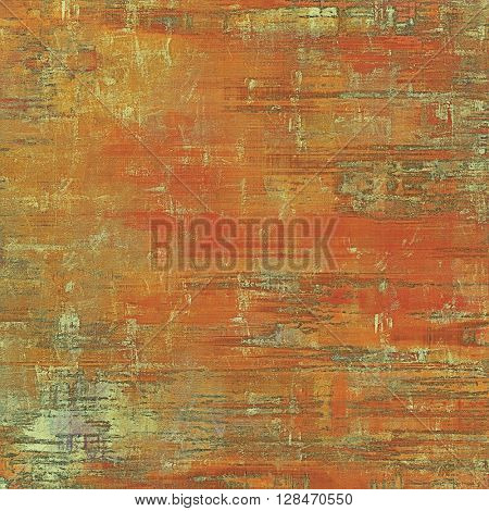 Vintage template or background with grungy texture, antique decor and different color patterns: yellow (beige); brown; gray; red (orange)
