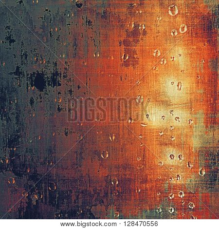 Art grunge background or vintage style texture with retro graphic elements and different color patterns: yellow (beige); brown; gray; red (orange); purple (violet); pink