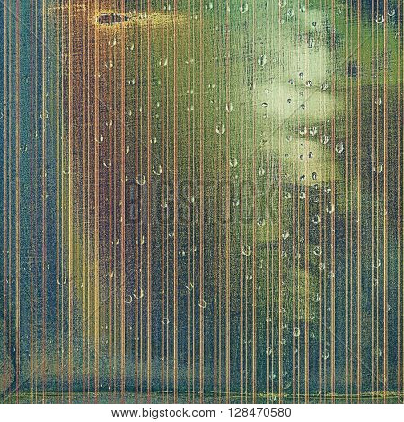 Oldest vintage background in grunge style. Ancient texture with different color patterns: yellow (beige); brown; gray; green; blue