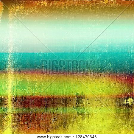 Grunge scratched background, abstract vintage style texture with different color patterns: yellow (beige); brown; green; blue; red (orange); cyan
