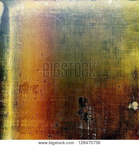 Old, grunge background or damaged texture in retro style. With different color patterns: yellow (beige); brown; green; red (orange); pink