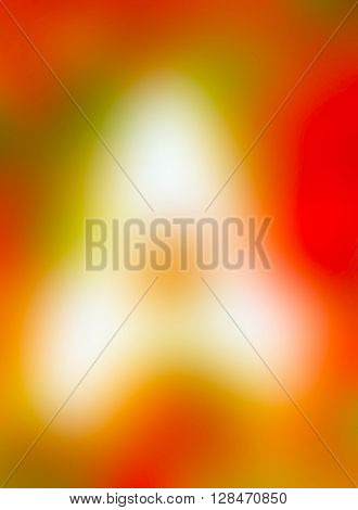 The variocolored blurred background and texture. Letter A.