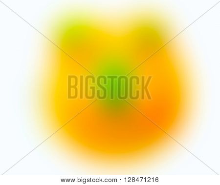 The variocolored blurred background and texture.