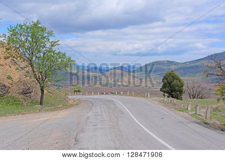 Mountain road in East Crimea
