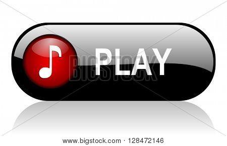 play long black banner 3D illustration