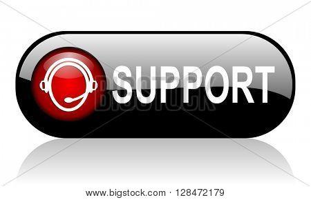 support long black banner 3D illustration