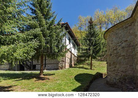 Courtyard and church of Temski monastery St. George, Pirot Region, Republic of Serbia