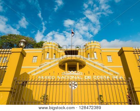 SAN JOSE, COSTA RICA - March 21: National Museum of Costa Rica, located in Bellavista Fortress originally used as military barracks. March 21, 2016 in San Jose.