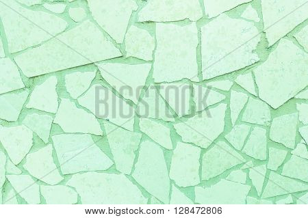 Closeup surface green marble wall texture background - Blank Room or Space area for copy text your words above looking down view - Green filter - Main focus in the middle of the frame