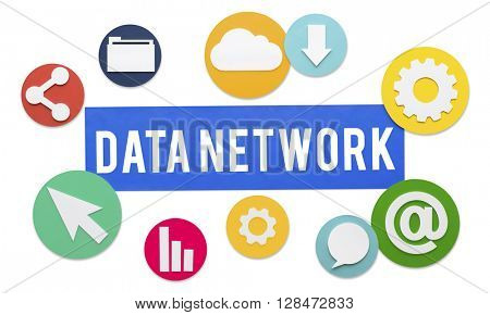 Data Network Technology Connection Concept