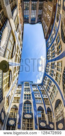 Facades Of Buildings In Hackescher Markt In Berlin, Germany