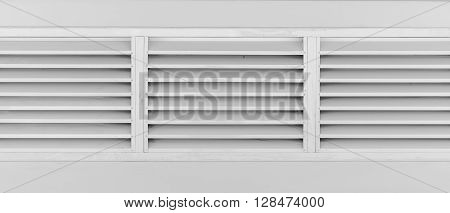 old louvers window with frame black and white tone