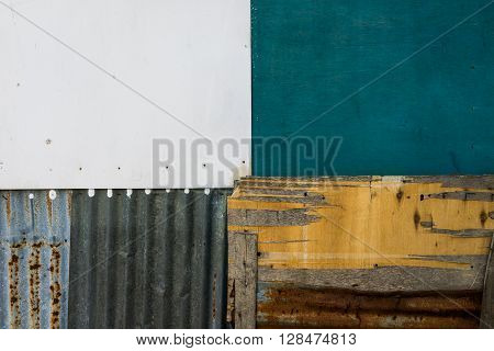 A shot of colorful textures in quadrant with a combination of different materials suitable for background.
