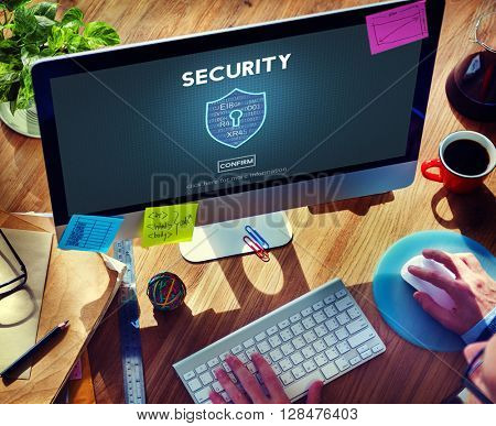 Security Safety Data Protection Concept