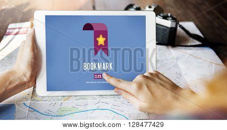 Bookmark Data Favorite Homepage Web Social Concept