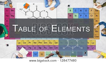 Chemical Bonding Experiment Research Science Table of Elements Concept