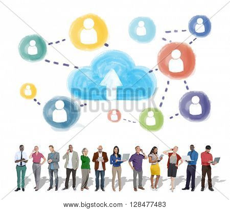 Cloud Networking Communication Connection Concept
