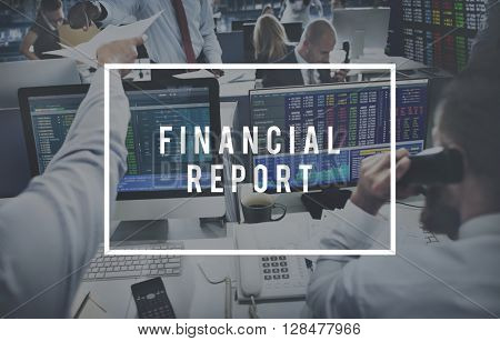 Financial Report Accounting Banking Money Concept