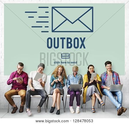 Outbox Inbox Email Connection Global Communications Concept