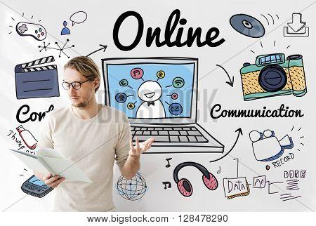 Online Connection Internet Web Social Networking Concept
