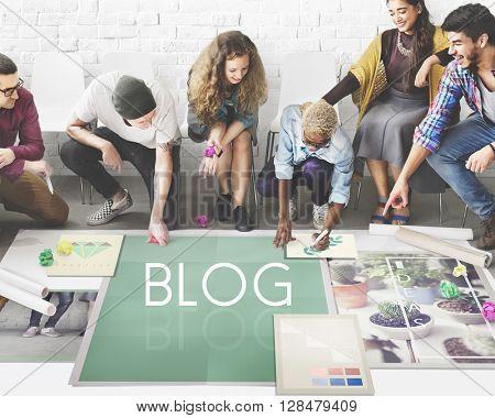 Blog Blogging Ideas Icons Graphic Concept