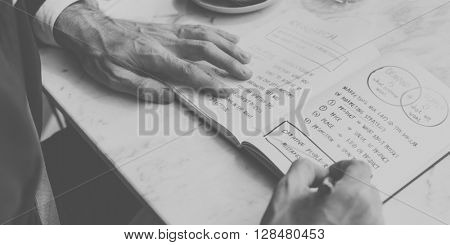 Businessman Working Thinking Planning Business Concept