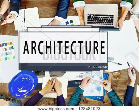 Architecture Layout Blueprint Build Construct Concept