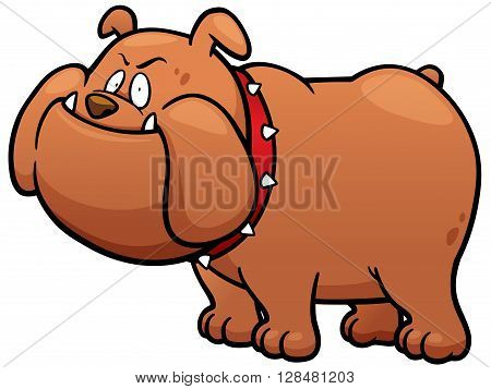 Vector illustration of Cartoon Angry Dog character