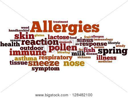 Allergies, Word Cloud Concept