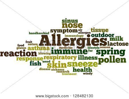 Allergies, Word Cloud Concept 2