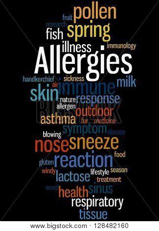 Allergies, Word Cloud Concept 5