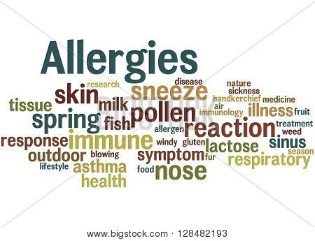 Allergies, Word Cloud Concept 7