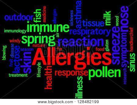 Allergies, Word Cloud Concept 8
