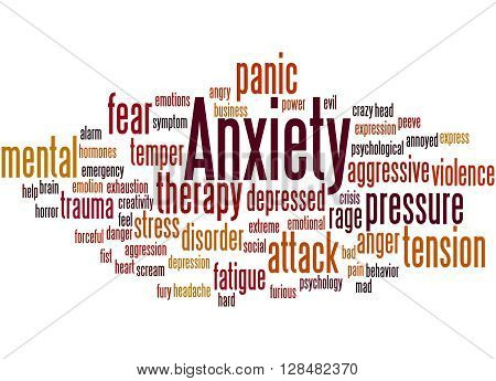 Anxiety, Word Cloud Concept 2