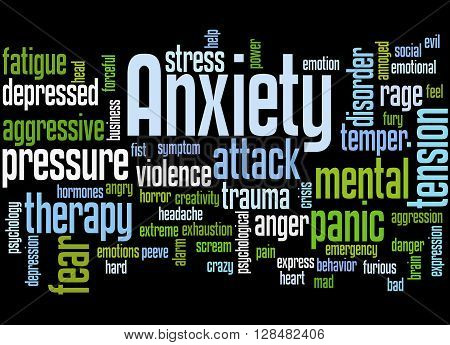 Anxiety, Word Cloud Concept 5