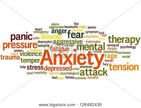 Anxiety, Word Cloud Concept 8