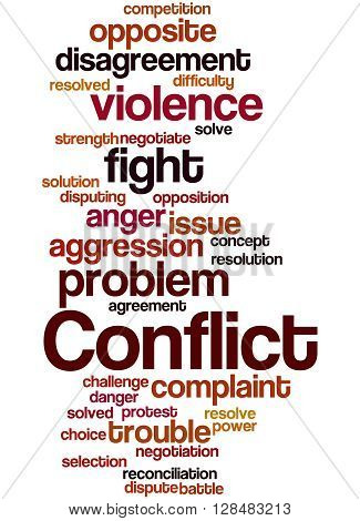 Conflict, Word Cloud Concept